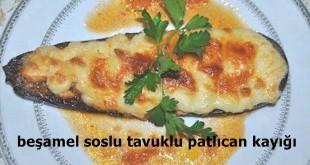 Beşamel Soslu Tavuklu Patlıcan Kayığı Tarifi